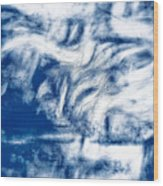Stormy Abstract Wood Print