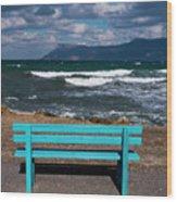 Stormy Aegean Sea Wood Print