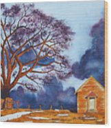 Stormy Afternoon Wood Print
