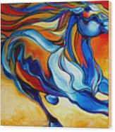 Stormy An Equine Abstract Southwest Wood Print