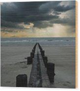 Stormy Atlantic Wood Print