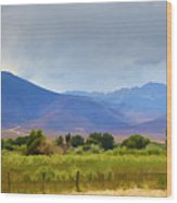 Stormy California Mountains Wood Print