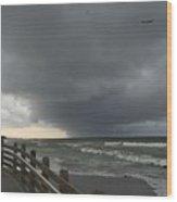 Stormy Caspersen Beach  Wood Print