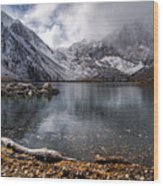 Stormy Convict Lake Wood Print