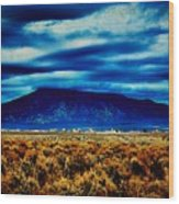 Stormy Day In Taos Wood Print