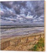 Stormy Dunes Wood Print
