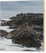 Stormy Giant's Causeway Wood Print