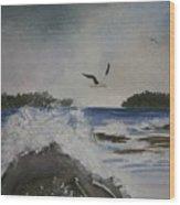 Stormy Inlet Wood Print