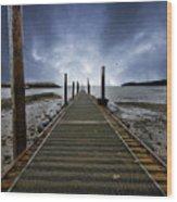 Stormy Jetty Wood Print by Meirion Matthias