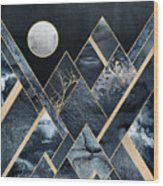 Stormy Mountains Wood Print