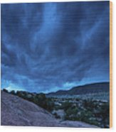 Stormy Night Sky Arches National Park - Utah Wood Print