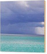 Stormy Ocean Wood Print