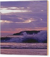 Stormy Ocean Panoramic  Wood Print