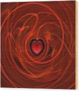Stormy Romance Wood Print