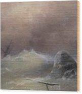 Stormy Sea 1887 Ivan Konstantinovich Aivazovsky Wood Print