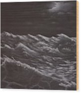 Stormy Sea Wood Print