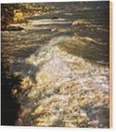 Stormy Sea Wood Print