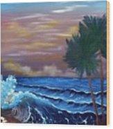 Stormy Seas Wood Print