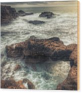 Stormy Seascape Wood Print