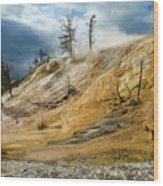 Stormy Skies At Mammoth Wood Print
