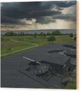 Stormy Sky Over Fort Moultrie Wood Print
