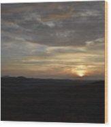 Stormy Sunset Beginning  Wood Print
