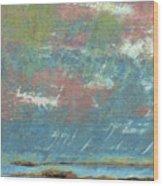 Stormy Coastal Sunset Wood Print