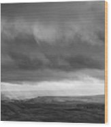 Stormy Weardale Wood Print