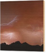 Stormy Weather Above The Mountains Wood Print