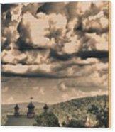 Storybook Farm Wood Print