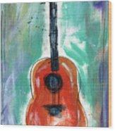 Storyteller's Guitar Wood Print