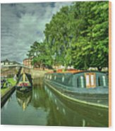 Stourport Narrowboats  Wood Print