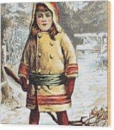 Stove Trade Card, C1890 Wood Print