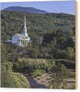 Stowe Vermont Wood Print