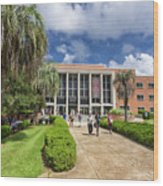 Stozier Library At Florida State University Wood Print