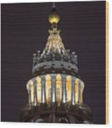 St.peter Cupola Wood Print
