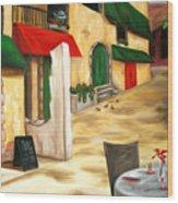 Strada Al Mattino Wood Print