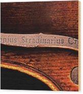 Stradivarius Label Wood Print