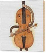 Stradivarius Violin Wood Print