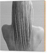 Straight Hair Wood Print