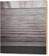 Straight Line Above Wood Print