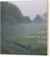 Straight Paths - Text Full Wood Print