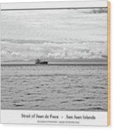 Strait Of Juan De Fuca Wood Print