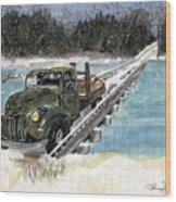 Stranded On Rockford Bridge Wood Print