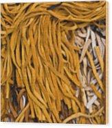 Strands Of Gold Wood Print