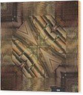 Strange Abstract  Wood Print