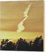 Strange Clouds At Sunset I Wood Print