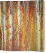 Strange Forest Wood Print