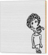 Strange Little Man Wood Print
