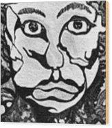 Strange Man Wood Print